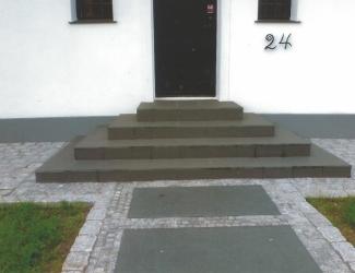 brolægning trappe-indgang
